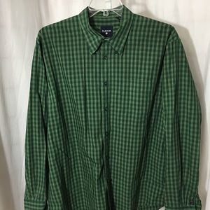 #371-  FilaSport mens green plaid shirt size XL